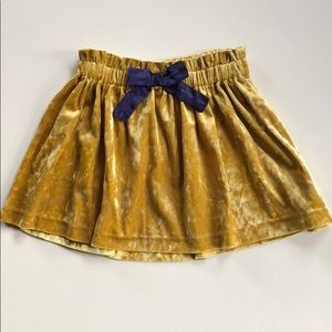 OshKosh | Gold Mustard Velvet Skirt | 4T